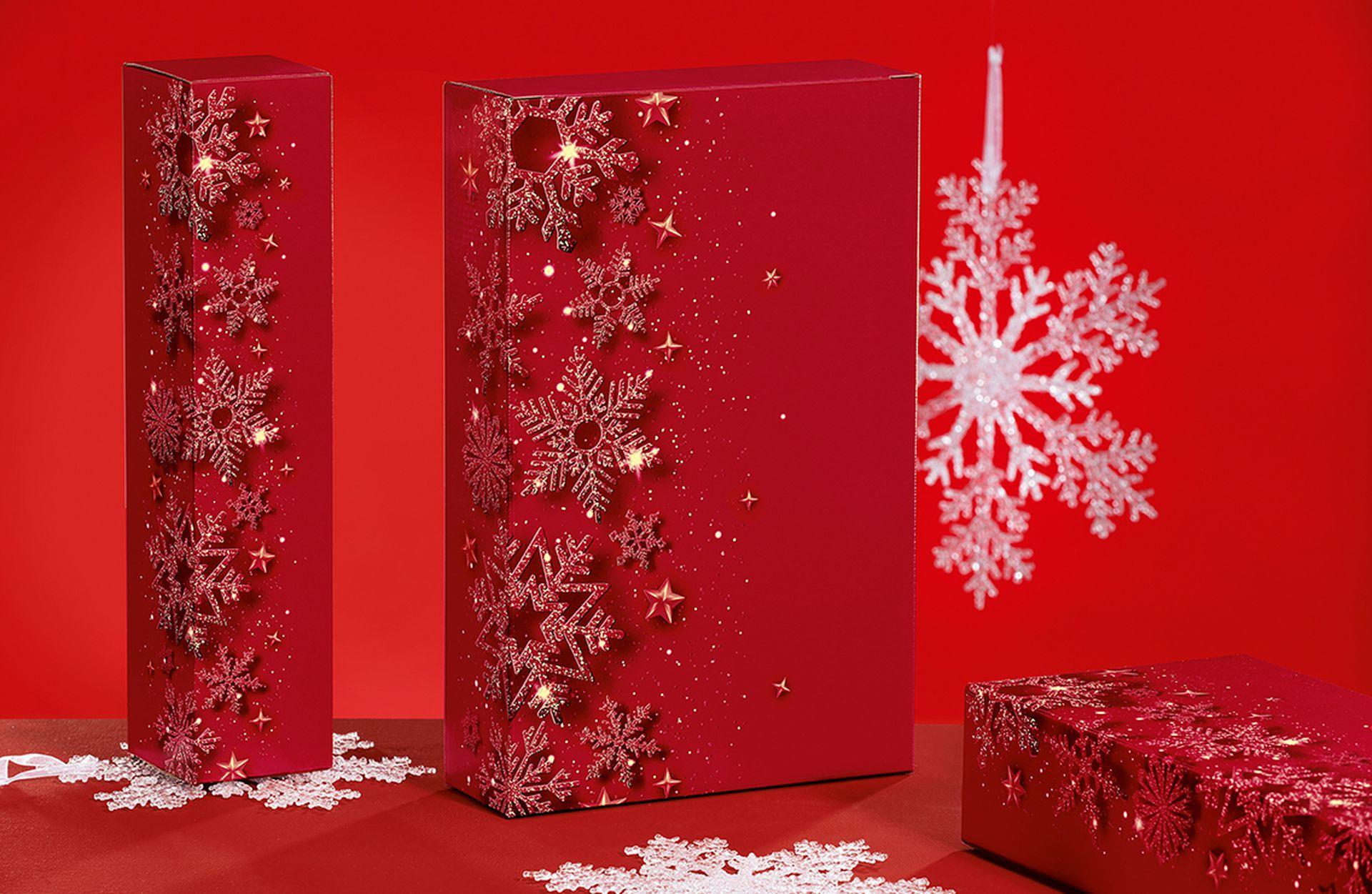 """Christmas Royal"" Flaschenverpackungen"