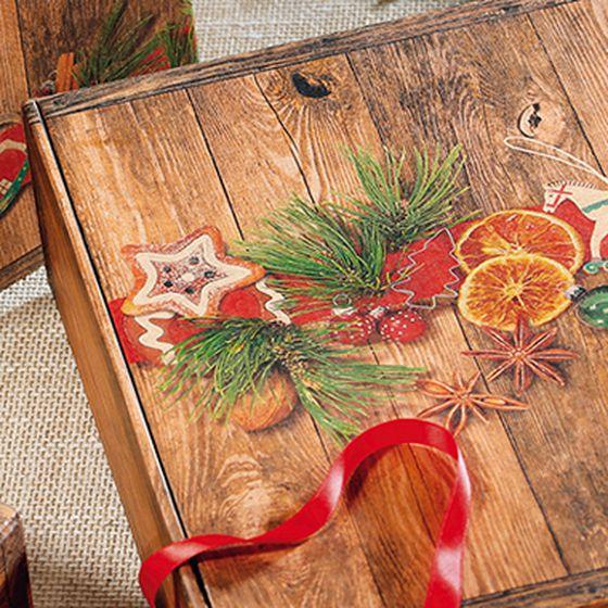 Gift box, Vintage Weihnachtsmarkt