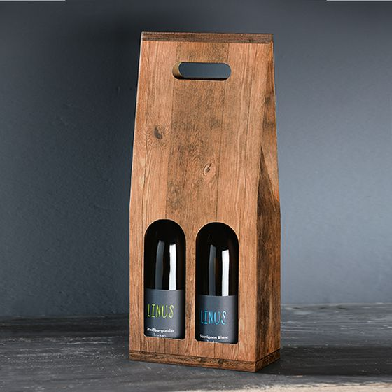 Sac cadeau pour 2 bouteilles de la série Vintage