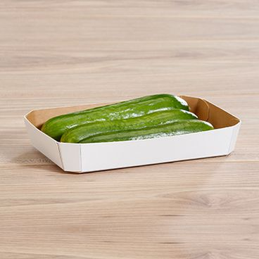 Barquettes pour légumes avec mini-concombres