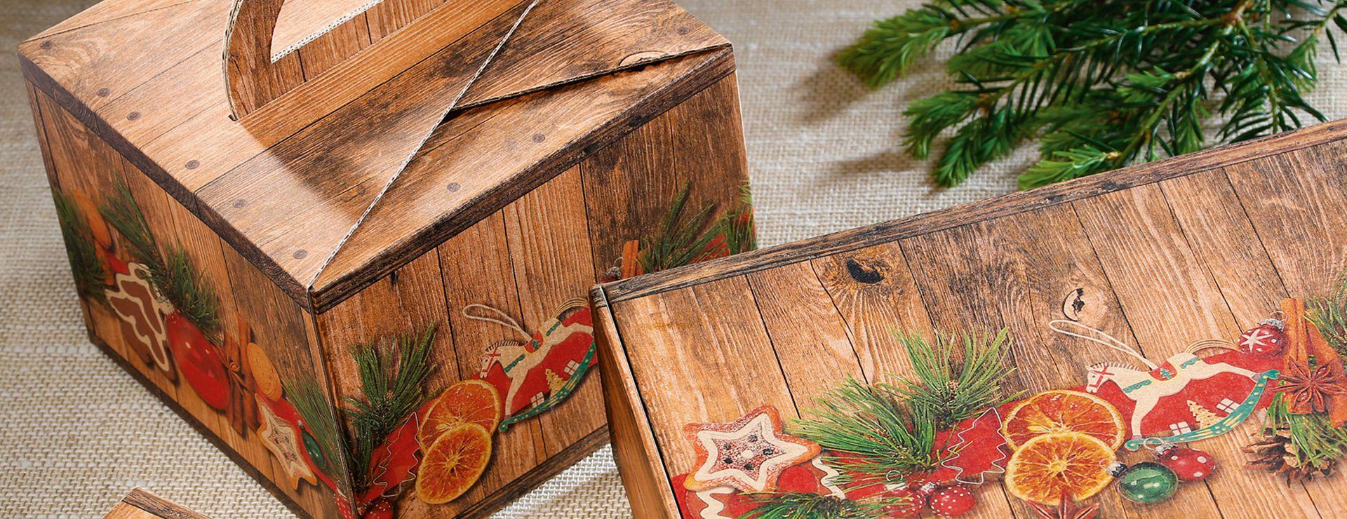 Emballage-cadeau imprimé marché de Noël Emotion