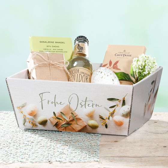 Geschenkkorb bedruckt Frohe Ostern