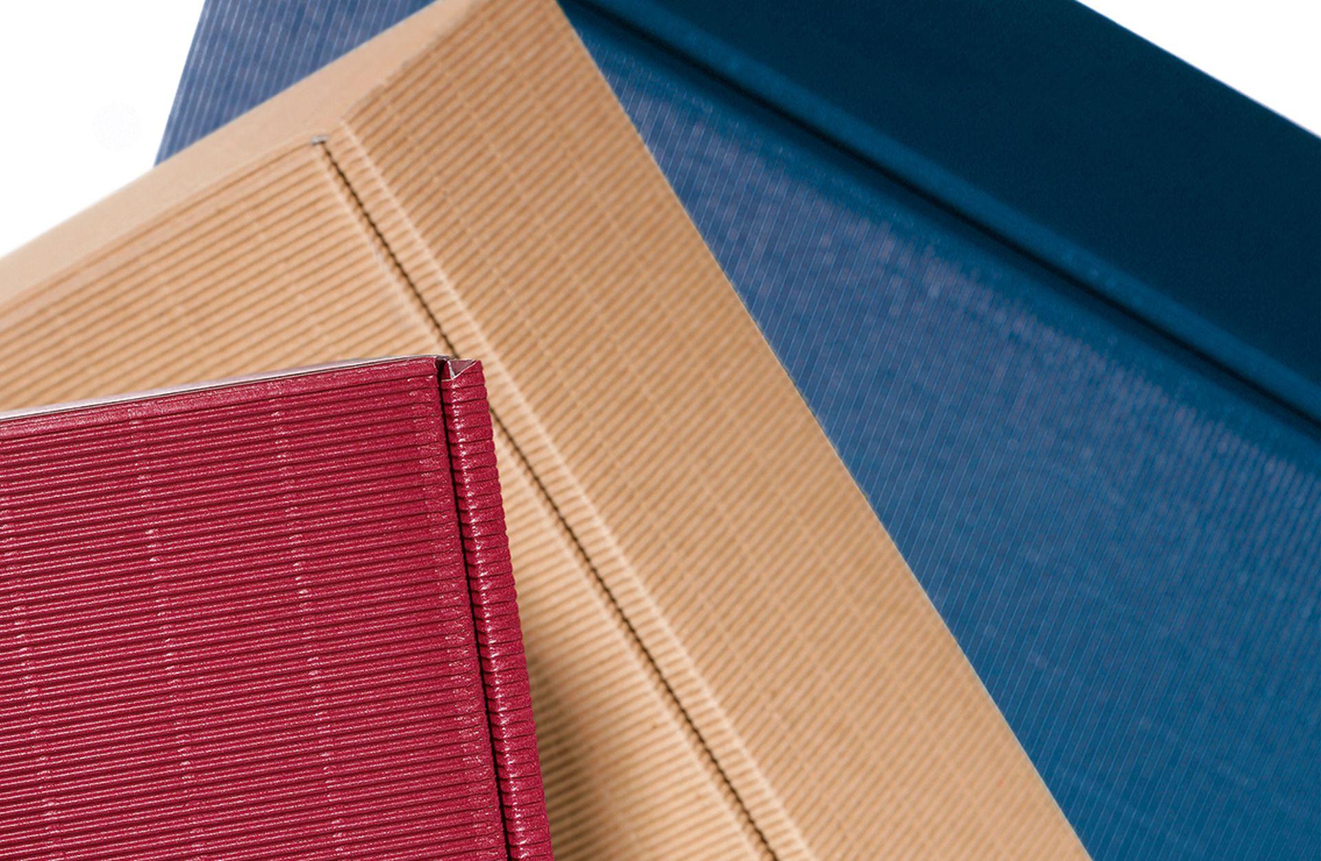 Emballage-cadeau série cannelure ouverte exemples de couleur