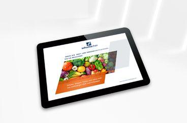 Brochure Emballages pour fruits et légumes sur iPad