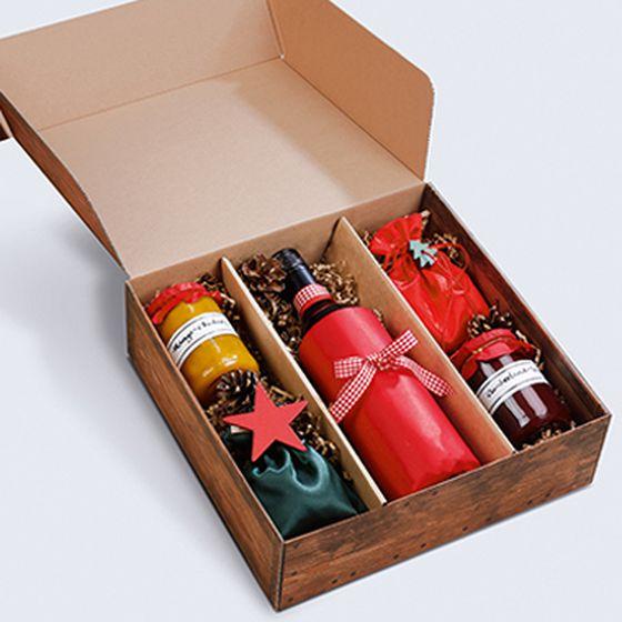 Gift box, open, Vintage Weihnachtsmarkt