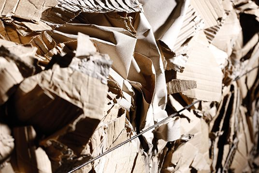 Recycling von gebrauchter Wellpappe