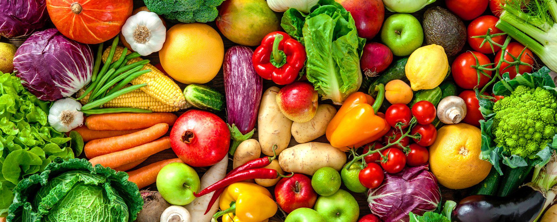 Mélange coloré fruits et légumes