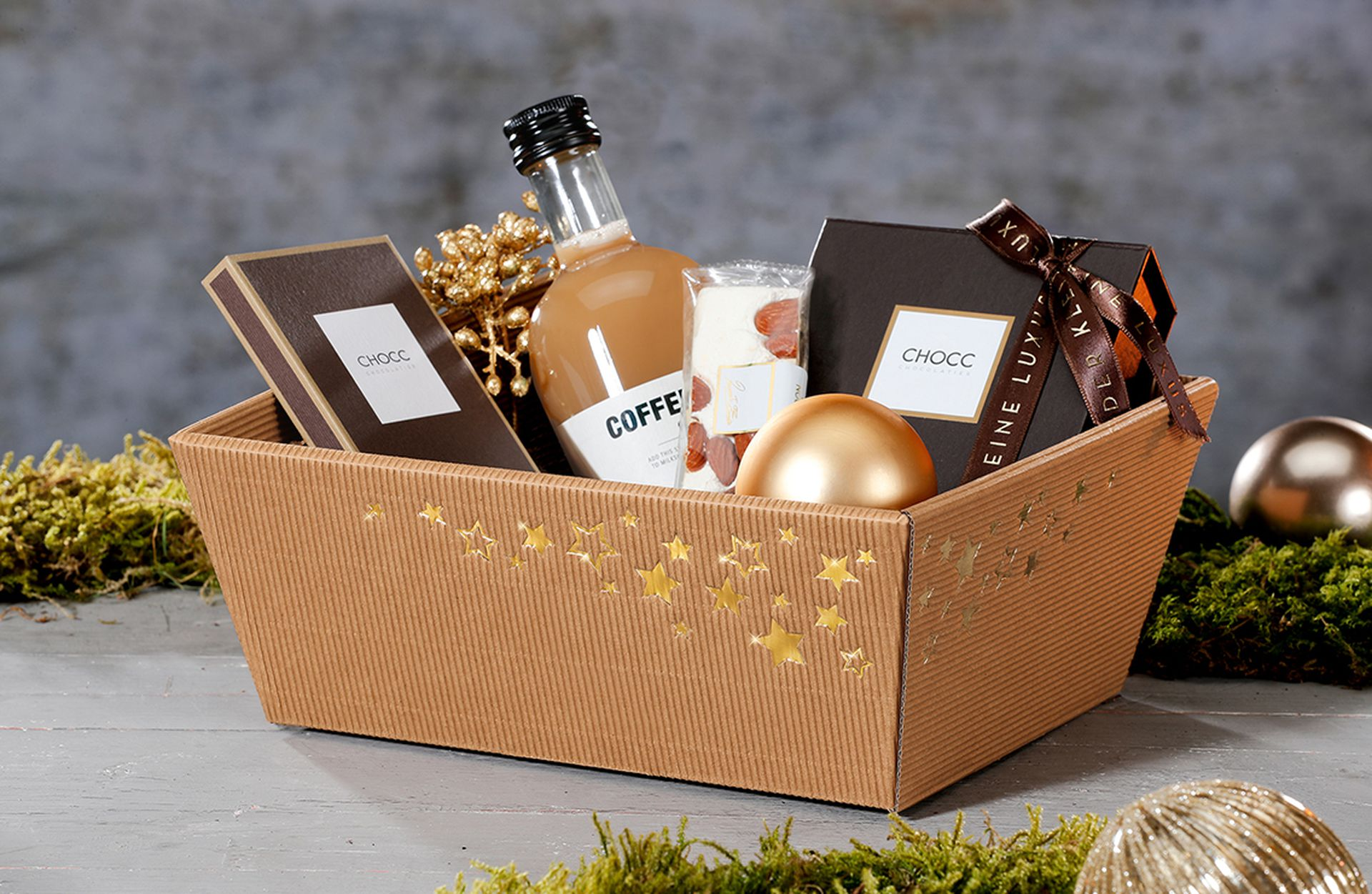 « Sternstunde » Panier-cadeau avec décorations de Noël