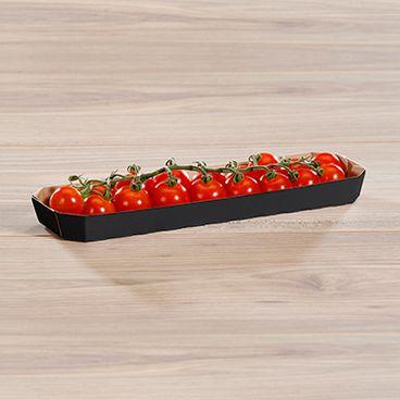 Barquettes pour légumes noire avec tomates cerises 200 g