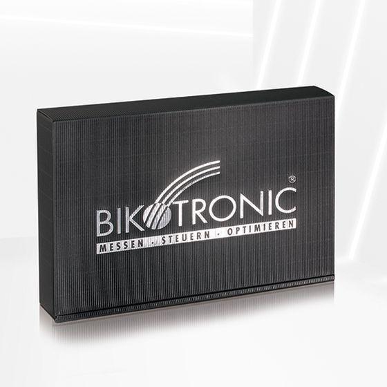Emballage-cadeau avec dorure à chaud personnalisée pour Bikotronik