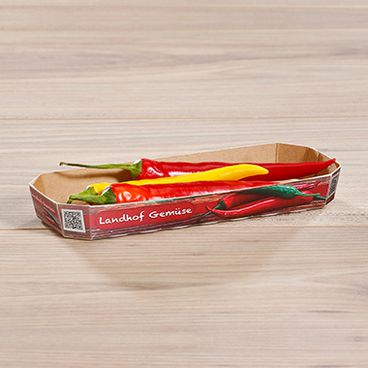 Barquettes pour légumes petits piments